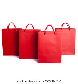Sale shopping bag set isolated on white