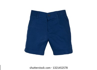 sale, shopping, fashion, style and people concept -Chino shorts  isolated on white background, navy color