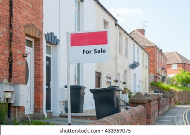 For sale sign on a post, Conceptual image of property sales
