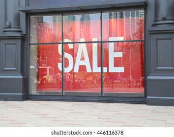 sale sign on store window