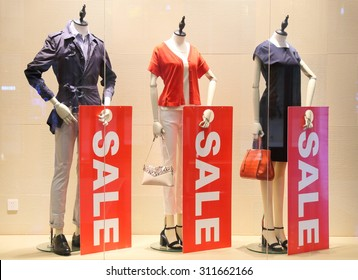 sale sign and showcase model
