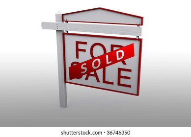 For Sale sign with sold