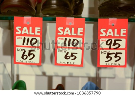 sale sign womens shoe store before stock photo edit now 1036857790