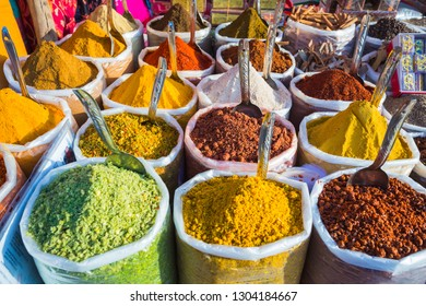 Sale of spices in the markets of Goa and other states of India