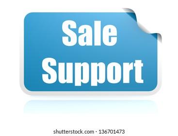 Sale support blue sticker