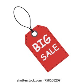 Sale tag isolated on white background. 3d image