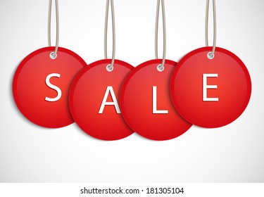 Sale tag. Raster version