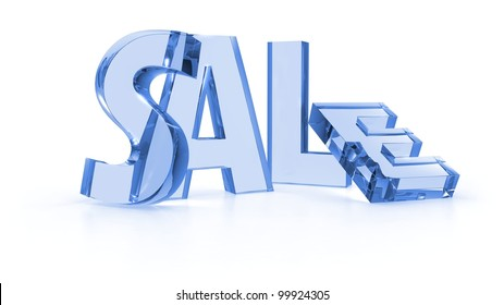 Sale tags blue color in white background