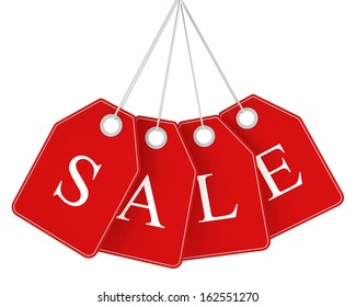 Sale tags isolated