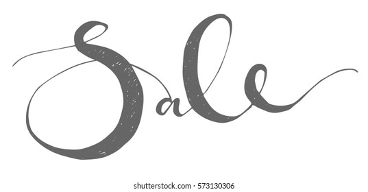 SALE typography template with Sale lettering. Calligraphy