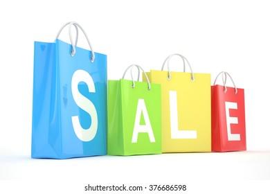 sale written on shopping bag