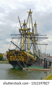 SALEM, MA, USA - AUG 15, 2014: Friendship of Salem at the Salem Maritime National Historic Site (NHS) in Salem, Massachusetts, USA.