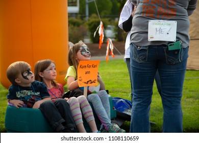 Salem, Oregon / USA - May, 5 2018: Multiple Sclerosis Walkathon