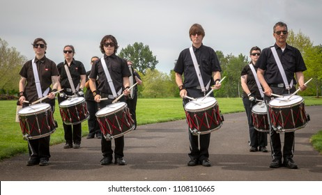 Salem, Oregon / USA - May, 5 2018: Multiple Sclerosis Walkathon Drummers