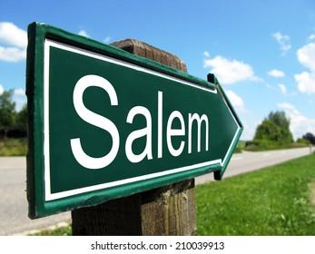 Salem signpost along a rural road
