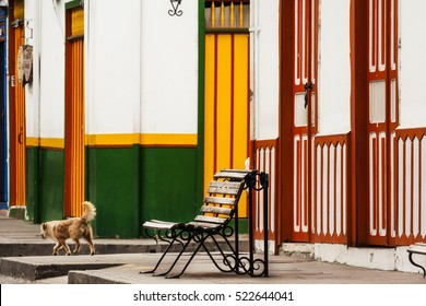 Salento, details of coffee town in Colombia.