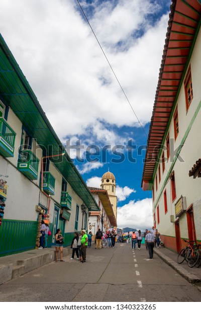 Salento Quindio Colombia October 22 2017 Buildings Landmarks Stock Image 1340323265