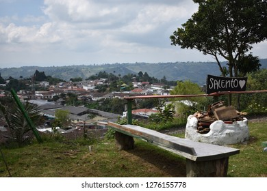 Salento town. Viewpoint of Salento (I love Salento). Quindio