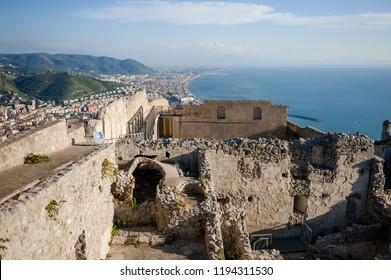 Salerno, Campania, Italy - Panoramic view of the gulf from the top of the castle Arechi