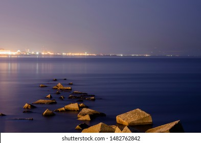 Salerno City landscape and sea