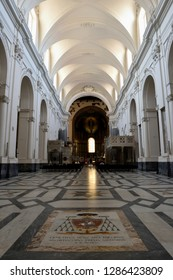 Salerno, Italy - 1st july 2018: The historic Cathedral of Salerno