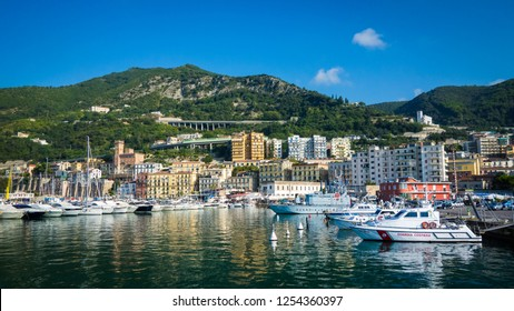 Salerno, Italy - September 2015: The ferry dock of Salerno at daytime