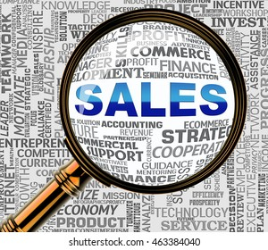 Sales Magnifier Representing Selling Promotion And Consumerism