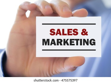 Sales and Marketing - business concept