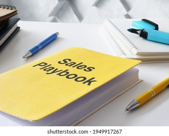 Sales playbook is shown on the photo using the text