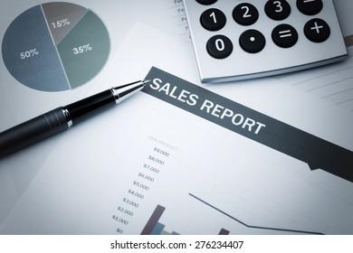 Sales Report business Concept