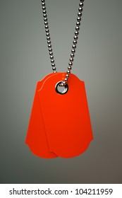 sales tags on a silver chain