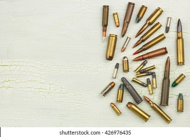 Sales of weapons and ammunition. Trade in arms and ammunition. Different types of ammunition. Bullets of different calibers and types. The right to own a gun