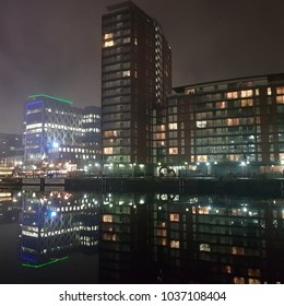 Salford by night