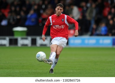 SALFORD, ENGLAND - SEPTEMBER 08, 2018: Danny Whitehead of Salford City during the National League match between Salford City and Maidstone United at The Peninsula Stadium, Salford