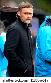 SALFORD, ENGLAND - SEPTEMBER 08, 2018: Salford City manager Graham Alexander during the National League match between Salford City and Maidstone United at The Peninsula Stadium, Salford