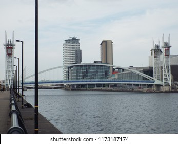 Salford Millenium bridge at Salford Quays