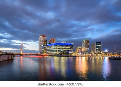Salford Quays is an area of Salford, Greater Manchester, England, near the end of the Manchester Ship Canal.