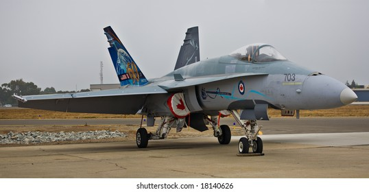 SALINAS, CA - SEPTEMBER 28: The Canadian Air Force CF-18 at 2008 California International Airshow, September 28, 2008 in Salinas, CA