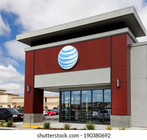 SALINAS, CA/USA - APRIL 27, 2014:  AT&T retail store. AT&T is an American telecommunications corporation and one of the largest providers of broadband, phone and data services.