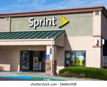 SALINAS, CA/USA - APRIL 8, 2104: Sprint store exterior. Sprint is a United States telecommunications holding company providing wireless and Internet services.