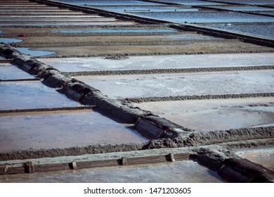 Salinas de Aveiro (Portugal), one of the icons of Aveiro to produce salt. Marina da Troncalhada