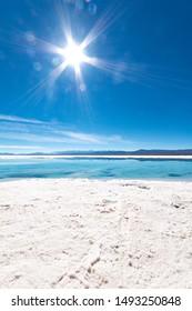 Salinas Grandes, salt desert, salt lake in the Andes, in the province of Salta and Jujuy Argentina