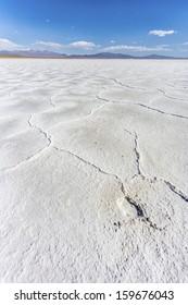 The Salinas Grandes salt flats in Jujuy province, northern Argentina.