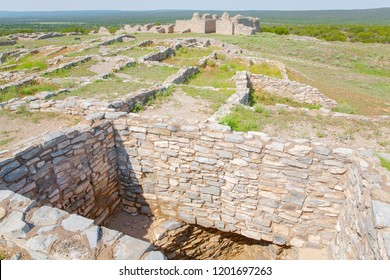Salinas Pueblo Missions National Monument, Gran Quivira Ruins, New Mexico, USA