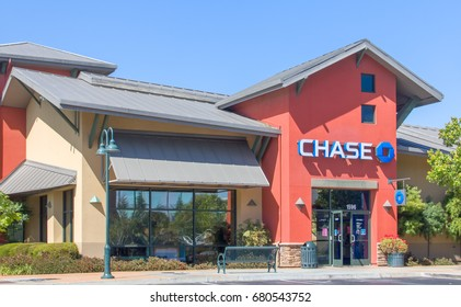 SALINAS,CA/USA- MAY 25, 2014: Chase Bank exterior. Chase is a consumer and commercial banking subsidiary of the multinational banking corporation JPMorgan Chase.