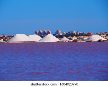 The Saline of Torrevieja and its surroundings, pure salt of the pink salty lake
