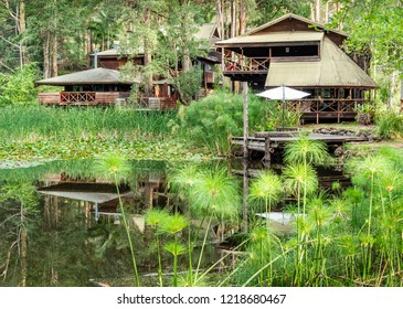Salisbury, Australia - Dec 28, 2017: Salisbury Lodges nestle in the idyllic Barrington Tops National Park. True wilderness retreat surrounded by water, bush trials and abundant forests.