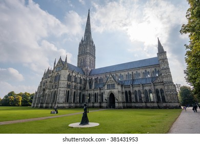 Salisbury Cathedral in Wiltshire, countryside of the United Kingdom