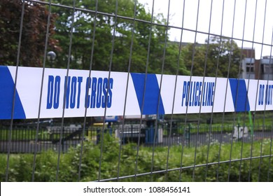 Salisbury, England. May 11 2018. Police cordon still in place while decontamination continues on the area in Salisbury where the Skripals were found poisoned by novichok on March 4 2018