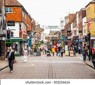 SALISBURY, UK - CIRCA SEPTEMBER 2016: HDR View of the city of Salisbury